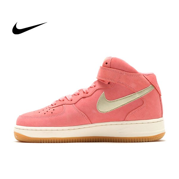 Nike Air Force 1 07 Mid AF1 粉紅 高筒 818596-800 女鞋