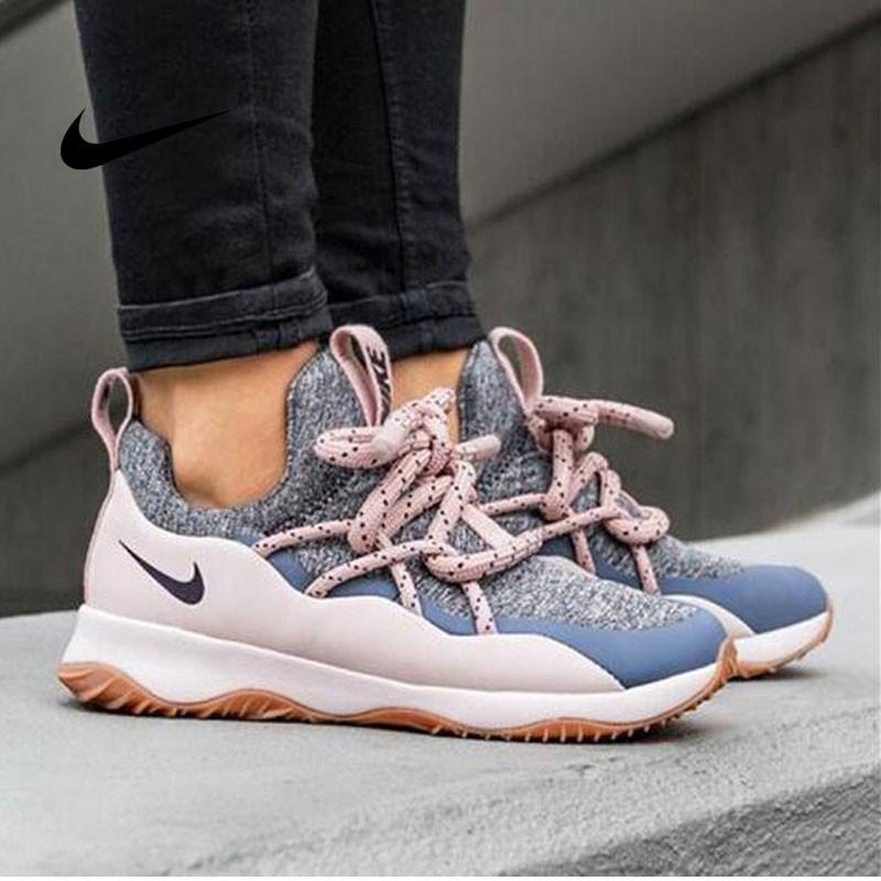 Nike WMNS City Loop 粗綁帶 女神 百搭 慢跑鞋 粉巖紅灰 AA1097-600