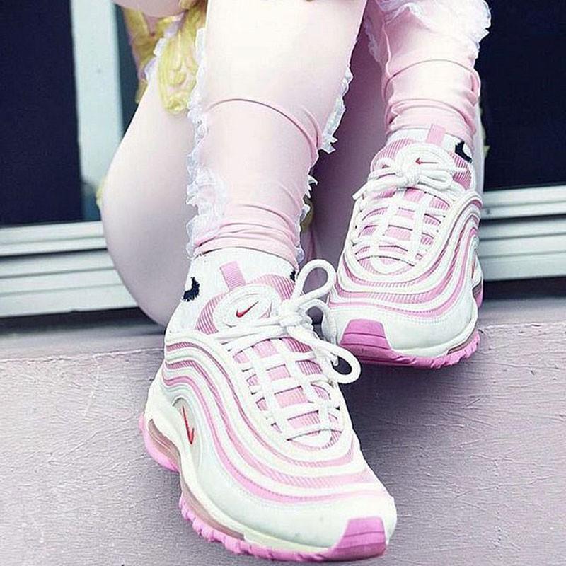 Nike Air Max 97 百搭 子彈鞋  粉白 312834-004