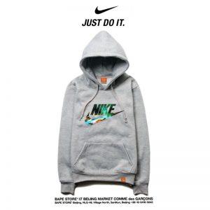 a825c701947205a2 300x300 - Nike 薄款 衛衣 寬鬆 長袖 套頭 情侶款 灰色 印花字勾