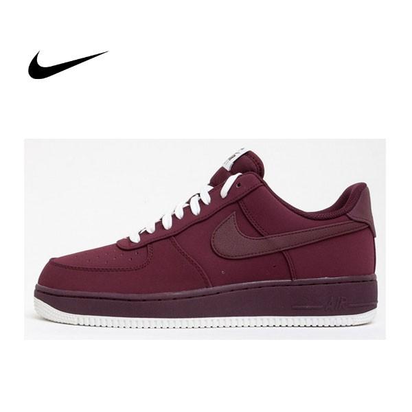 "Nike Air Force 1 Low 空軍一號經典低筒板鞋 晚霞慄紅 男鞋""Night Maroon"" 820266-604"