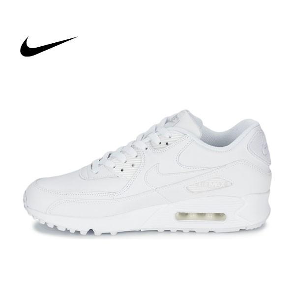 NIKE AIR MAX 90 ESSENTIAL 全白 男女休閑氣墊跑步鞋 537384-111