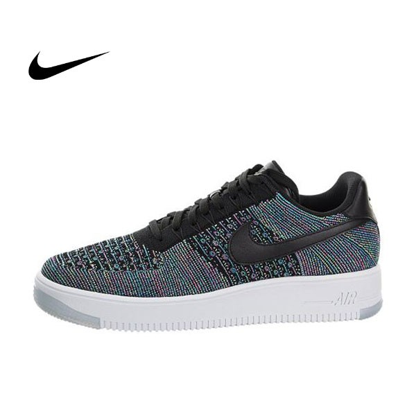NIKE AIR FORCE 1 AF1 FLYKNIT LOW 編織 817419-401 藍黑 男鞋