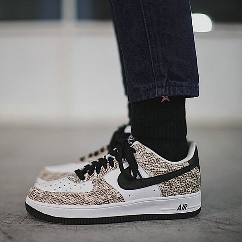 Nike Air Force 1 Low Premium Snake Cocoa 低筒 白黑 皮蟒 蛇紋 845053-104