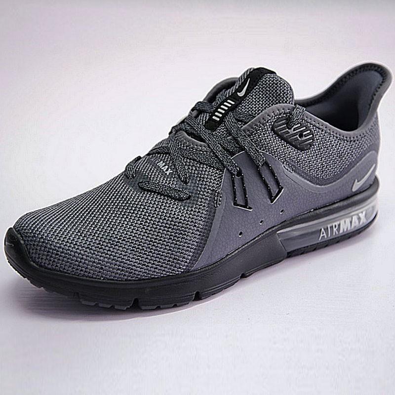 男鞋 Nike Air Max Sequent 3代 後掌 緩震 超軟 氣墊 慢跑鞋 黑水泥深灰 921694-009