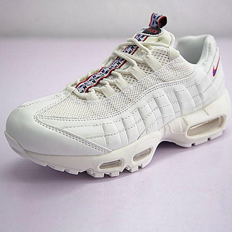 男女鞋 Nike Air Max 95 TT 復古氣墊百搭慢跑鞋系列 串標米白 AJ1844-101