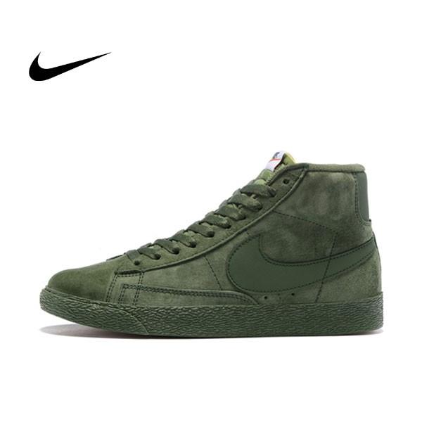 NIKE BLAZER LOW PRM VNTG 復古 軍綠 麂皮 防滑 男鞋