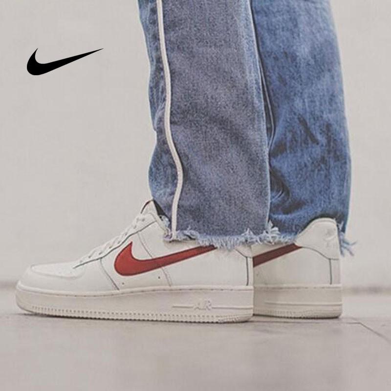 Nike Air Force 1 Low 07 低筒 皮革 板鞋 白紅 男鞋 315122-126