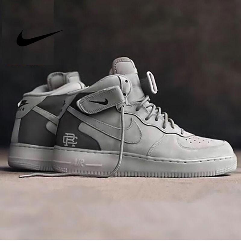 Reigning Champ x Nike Air Force 1 Mid 07空軍 中幫經典板鞋 麂皮灰暗灰 807618-200