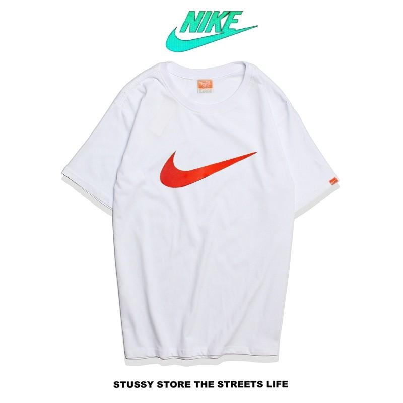 Nike Futura Icon Logo Tee 字勾 基本款 男款 白紅 寬鬆
