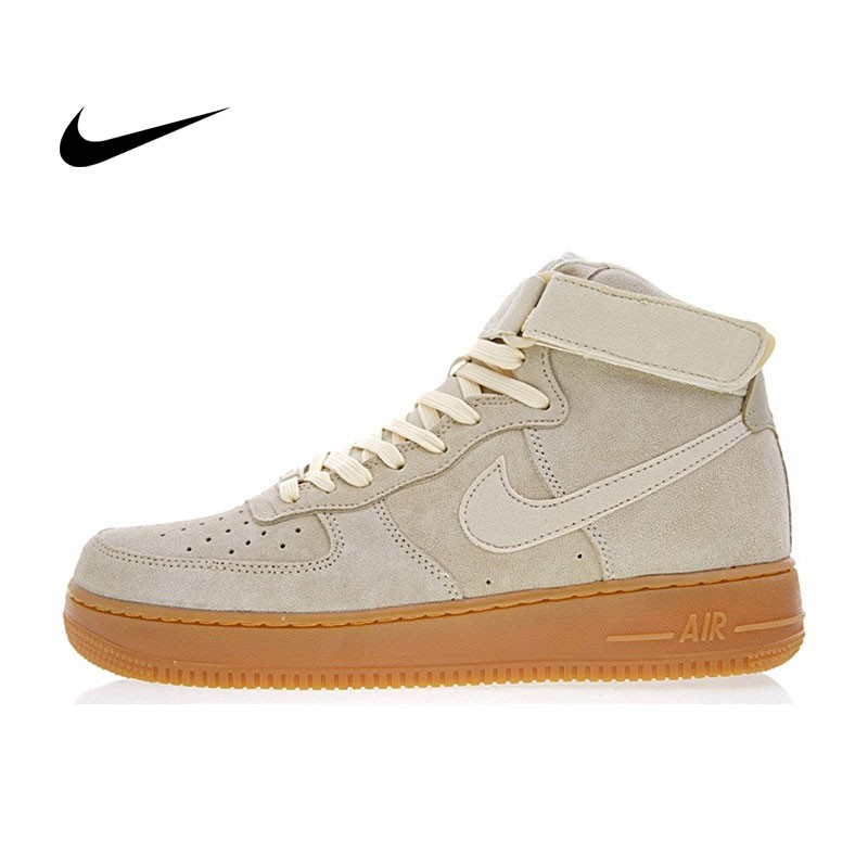 Nike Air Force 1 High  07  Suede 經典 高筒 麂皮 板鞋 情侶鞋AA1118-100