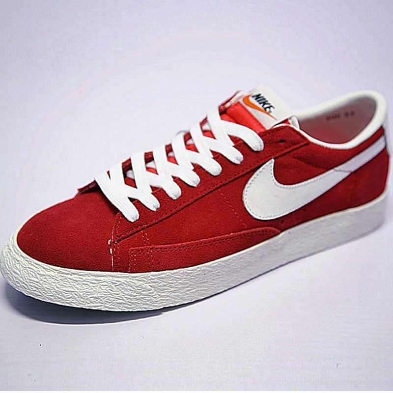 情侶鞋Nike Blazer Low 板鞋 復古 紅白 488060-610