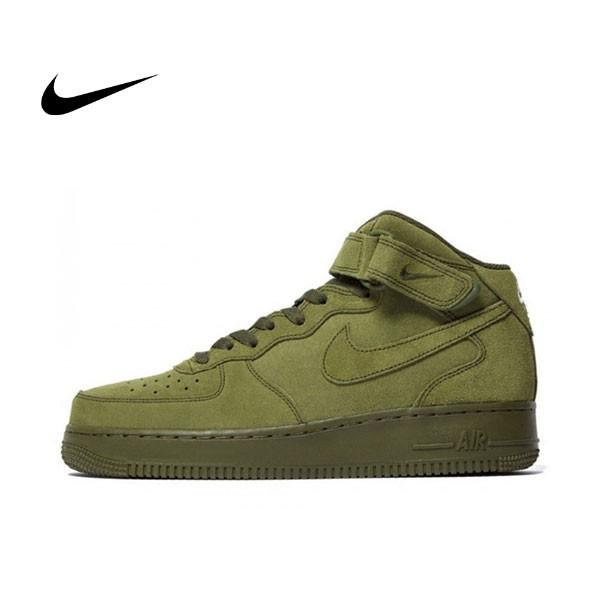 NIKE AIR FORCE 1 07 MID Olive AF1 中筒 軍綠 墨綠 麂皮 315123-302 情侶鞋