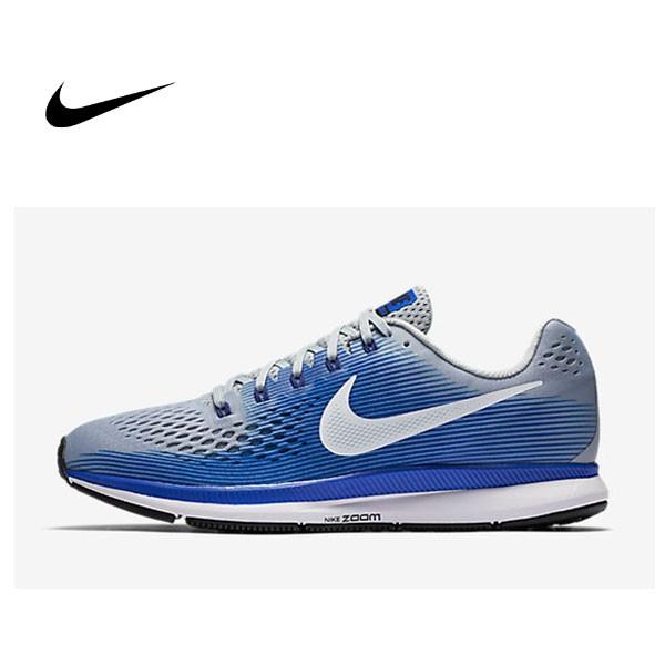 NIKE AIR ZOOM PEGASUS 34 灰藍 880555 007 男生 慢跑鞋