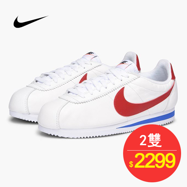 Nike Classic Cortez SE 經典阿甘 皮面 防水 紅勾 情侶鞋 902801-100