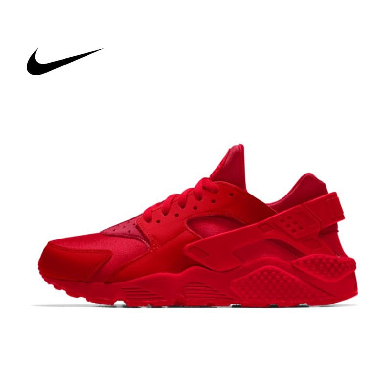 NIKE AIR HUARACHE RUN Triple Black 一代黑武士 運動鞋 黑魂 休閒鞋 慢跑鞋 情侶 全紅