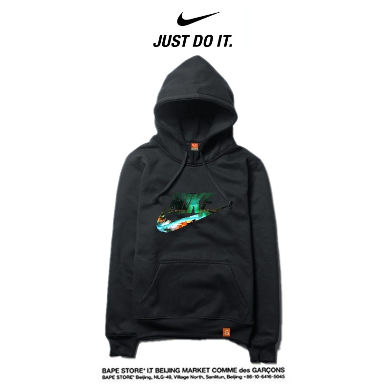 Nike 薄款 寬鬆 長袖 套頭 衛衣 情侶款