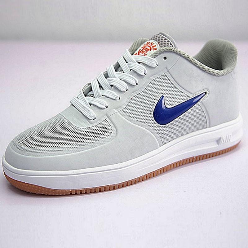 陳冠希主理品牌CLOT x Nike Air Force 1 Low Fuse 鴛鴦 灰色 藍紅小勾 717303-064