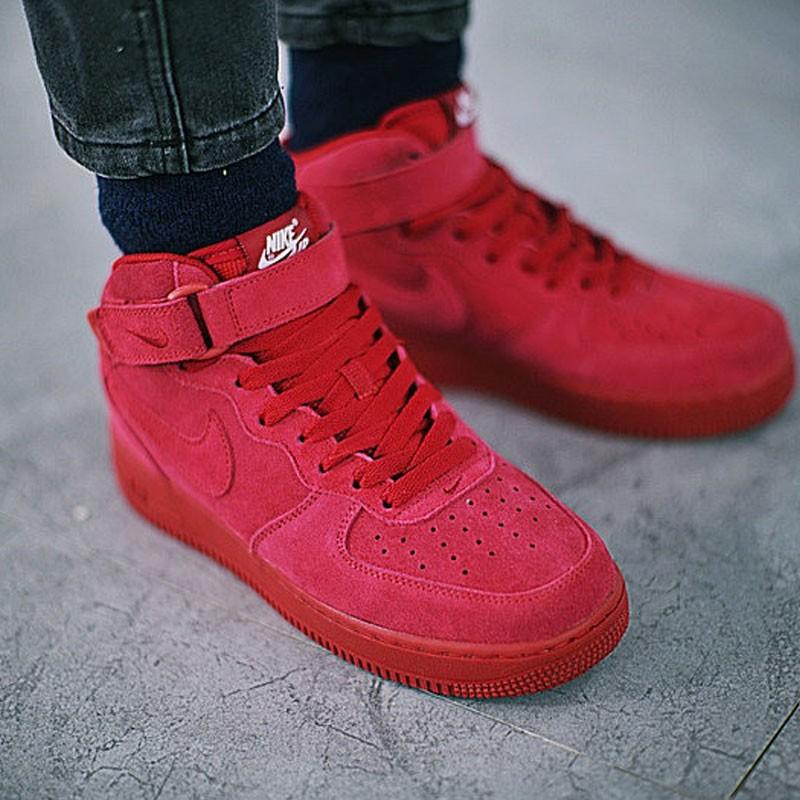 Nike Air Force 1 Mid 中筒 皮革 板鞋 酒紅 情侶鞋 315123-609