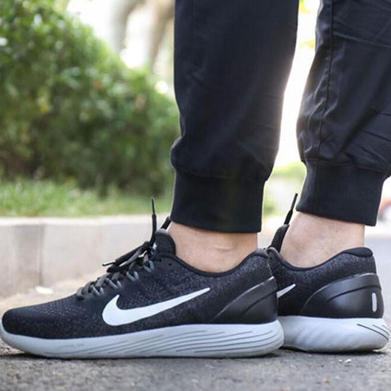 Nike LUNARGLIDE 9 登月9代斜線 黑深灰