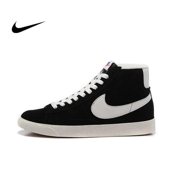 NIKE BLAZER LOW PRM VNTG 復古 黑白 麂皮 防滑 情侶鞋