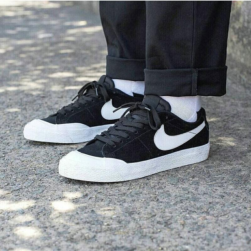 Nike SB Blazer Low XT開拓者包頭低筒硫化板鞋 黑白 864348-019