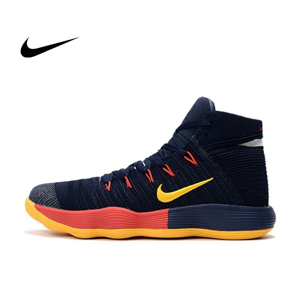 Nike React Hyperdunk Flyknit 深藍黃紅 籃球鞋 男款