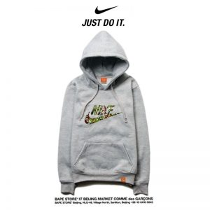 df912adc6ba8efc1 300x300 - Nike 2018春秋薄款 衛衣 寬鬆 長袖 套頭 情侶款 灰色 碎花字勾