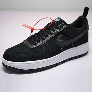 e5c46bfd9b81ca9e 300x300 - 男鞋 18SS Nike Air Force 1 Low Canvas  帆布黑白 905136-001