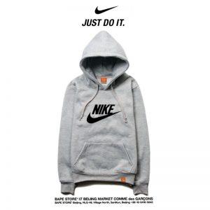 e5e7baef59860faa 300x300 - Nike 薄款 百搭衛衣 寬鬆 休閒 長袖 套頭 情侶款 灰黑