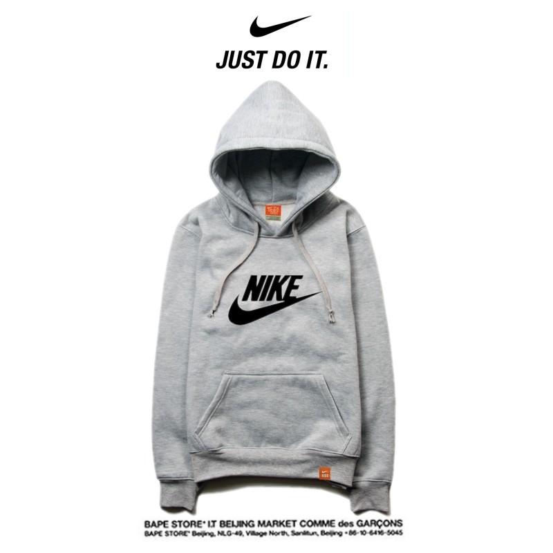Nike 薄款 百搭衛衣 寬鬆 休閒 長袖 套頭 情侶款 灰黑