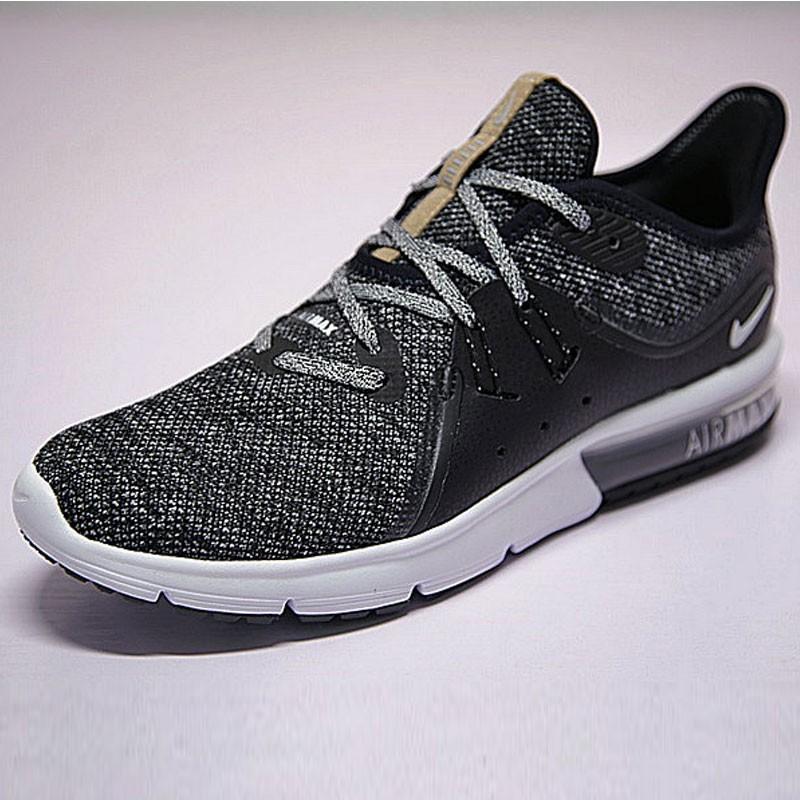 男女鞋 Nike Air Max Sequent 3代 緩震 超軟 氣墊 慢跑鞋 奧利奧黑灰 921694-011