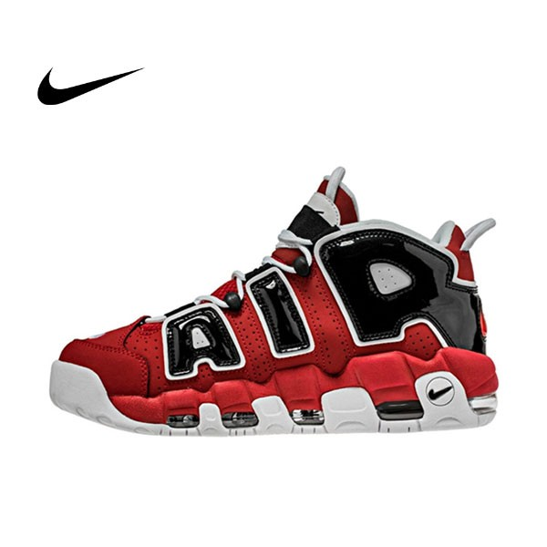 "AIR MORE UP TEMPO""96"" VARSITY RED  WHITE-BLACK 男鞋(921948-600)"