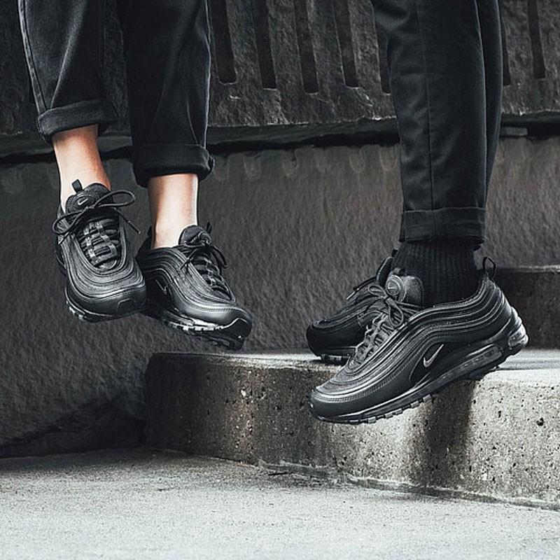 男女鞋 Nike Air Max 97系列百搭復古氣墊慢跑鞋 黑魂灰勾 921733-001