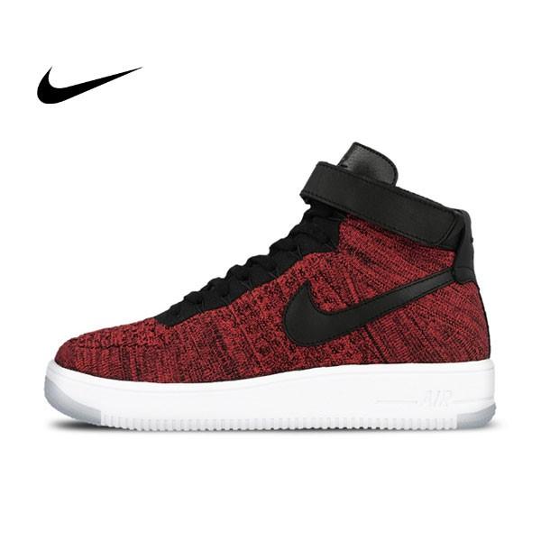 Nike Air Force 1 Flyknit AF1 大紅飛線 男子休閑板鞋817420-600