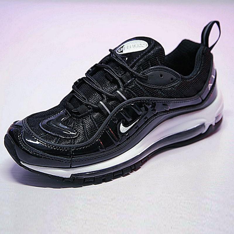 男女鞋 Nike Air Max 98 復古氣墊百搭慢跑鞋 黑白 640744-010