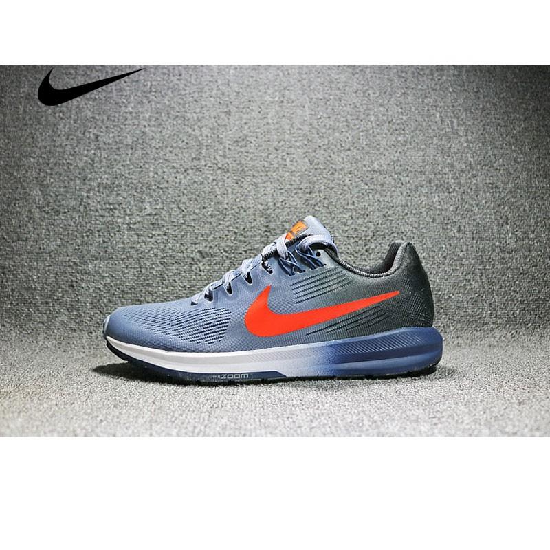 Nike Air Zoom Structure 21 網面透氣輕運動跑步鞋 男鞋 904695-406
