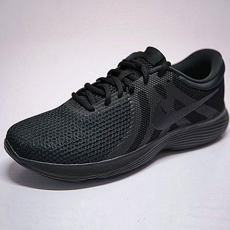 f1495256c0586f52 - NIKE Revolution 4 網面 緩震 輕便 運動 休閑 跑步鞋 武士黑勾 908988-002