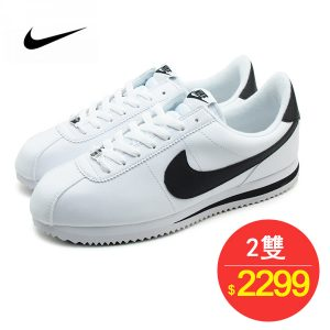 f33fc8028b5920e5c426ea4a7eb983e1 300x300 - Nike Cortez 經典款 阿甘鞋 白皮面黑鉤 情侶鞋 819719-100