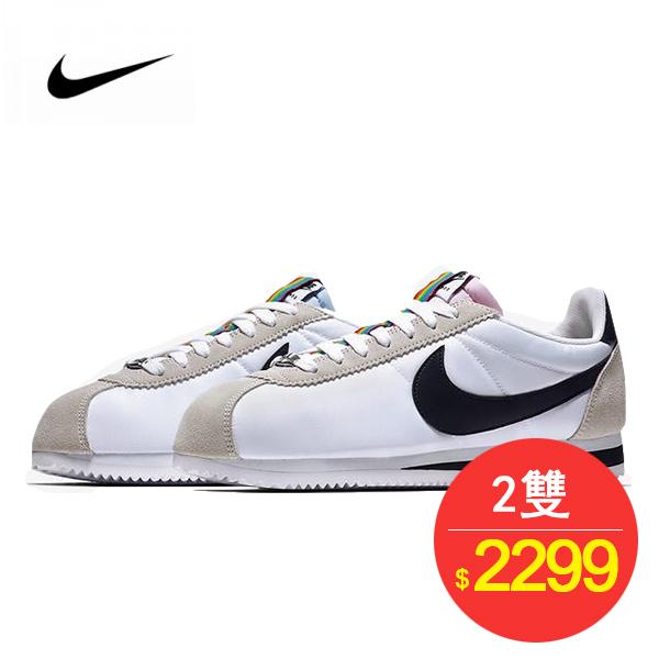 Nike Classic Cortez Betrue QS 阿甘 板鞋 七彩白黑 902806-100