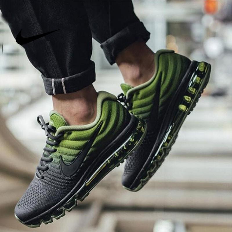NIKE AIR MAX 2018 3M 反光 全氣墊 飛線 銀勾 綠黑 黑色 輕量 慢跑鞋 男鞋 849559-006