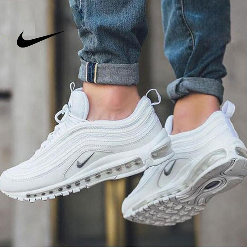 Nike Air Max 97 全白子彈全掌大氣墊跑鞋 921826 101