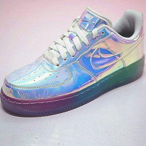 f8e55536c97d9a02 300x300 - Nike Air Force 1 ID空軍壹號經典百搭板鞋  Iridescent 超級碗鏡面 情侶鞋 779456-991