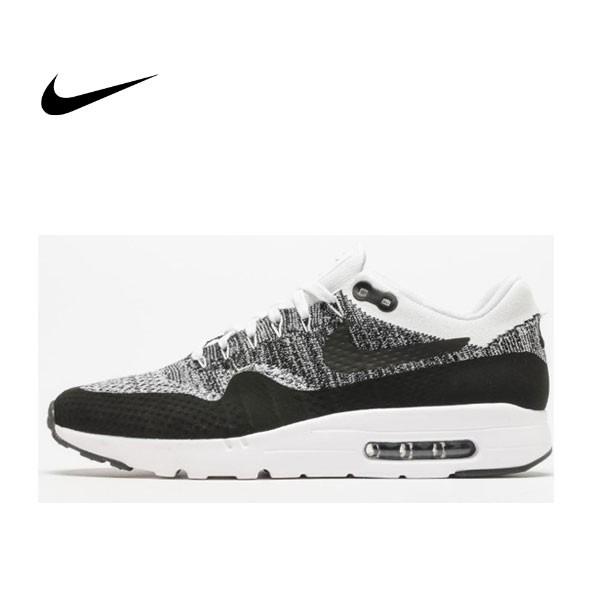 Nike Air Max 1 Ultra Flyknit 編織 飛線 休閑 氣墊跑鞋 男 843384-100