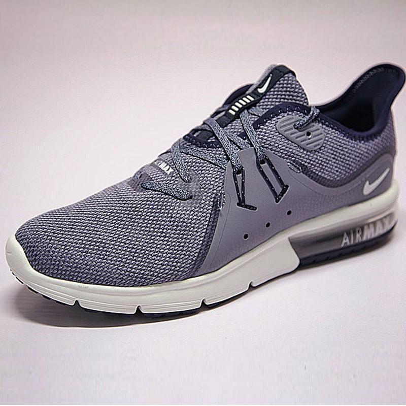 男鞋 Nike Air Max Sequent 3代 後掌 緩震 超軟 氣墊 慢跑鞋 薰衣草深藍紫 921694-402