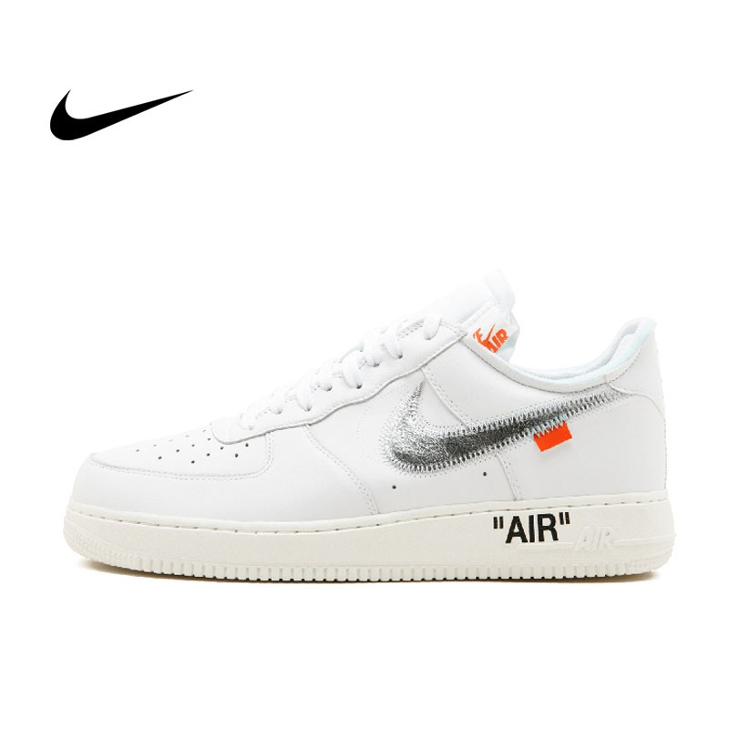 Nike Air Force 1 07 OFF WHITE/COMPLEX CON 白色 黑勾 男鞋- AO4297 100