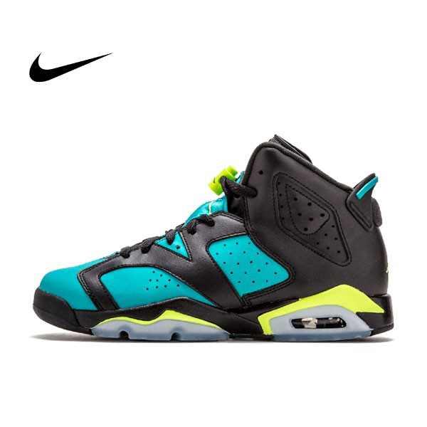 Nike Air Jordan 6 Retro Turbo Green GS 女鞋 黑綠 土耳其藍543390-043 - 耐吉官方網-nike 官網