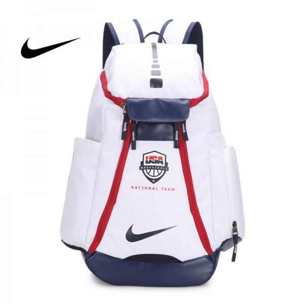 Nike 球星款 KD大號 帆布 雙肩包 白色 後背包 時尚 百搭 高54*下寬30*厚23