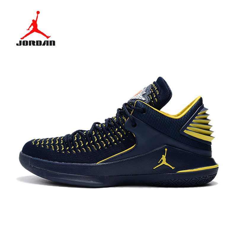AIR JORDAN XXXII DAY BANNED 32代 AH3348-001 喬丹 深藍黃 男款 防滑耐磨籃球鞋
