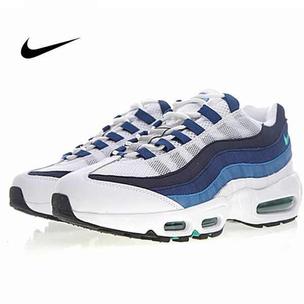 Nike Air Max 95 復刻 氣墊慢跑鞋 白漸變藍 男款 運動潮鞋 時尚百搭 554970-131